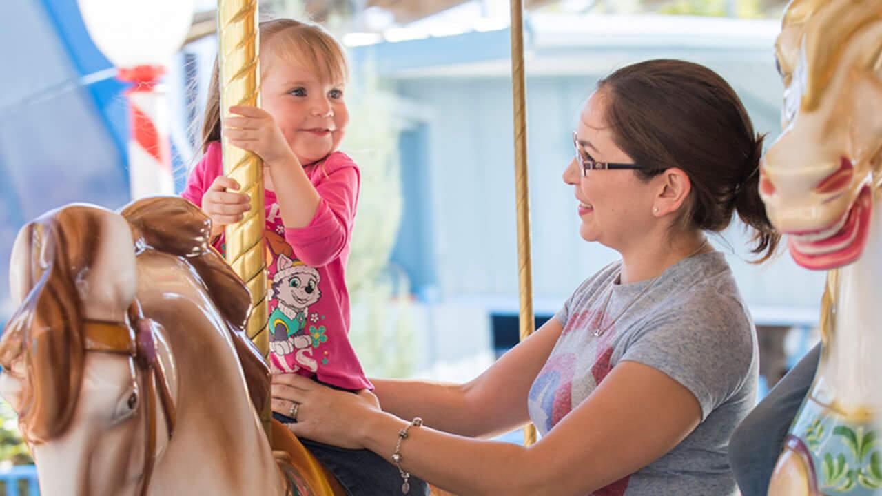 Carousel at Cliffs Amusement Park