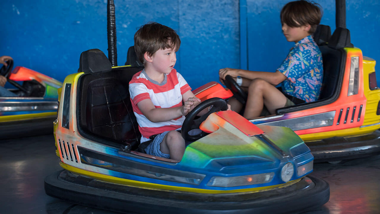 Kiddy Bumper Cars at Cliffs Amusement Park