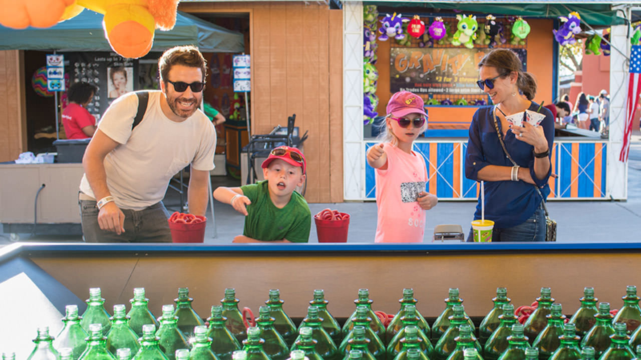 Family at Cliffs Amusement Park
