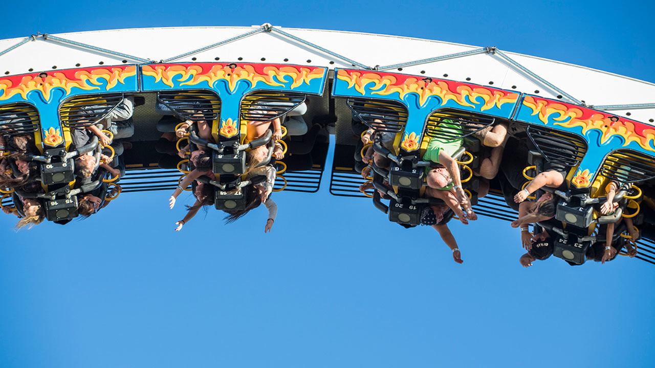 Fire Ball Ride at Cliffs Amusement Park