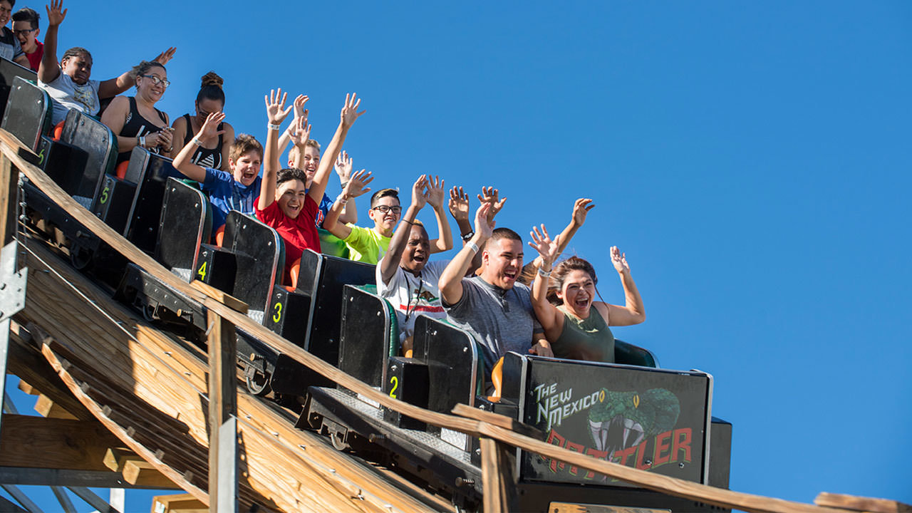 New Mexico Rattler ride at Cliffs Amusement Park